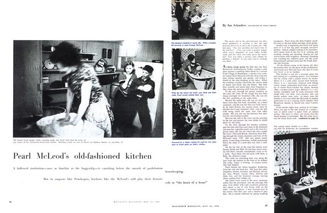 Article Preview: Pearl McLeod's old-fashioned kitchen, May 1958 | Maclean's
