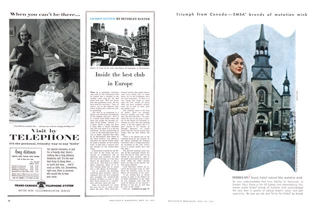 Article Preview: LONDON LETTER, May 1958 | Maclean's