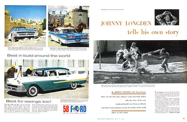 Article Preview: JOHNNY LONGDEN tells his own story, May 1958 | Maclean's