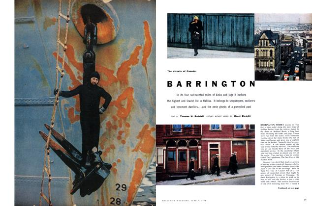 Article Preview: The streets of Canada: BARRINGTON, June 1958 | Maclean's