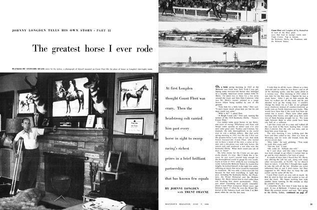 Article Preview: The greatest horse I ever rode, June 1958 | Maclean's