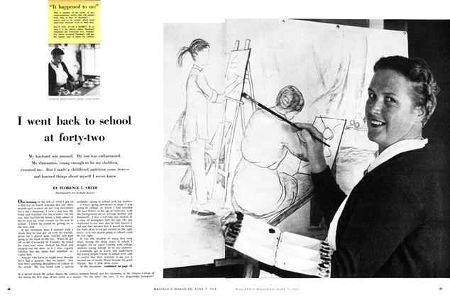 Article Preview: I went back to school at forty-two, June 1958 | Maclean's