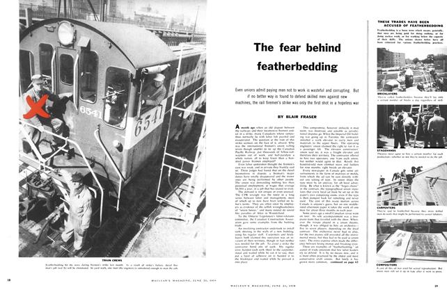 Article Preview: The fear behind featherbedding, June 1958 | Maclean's