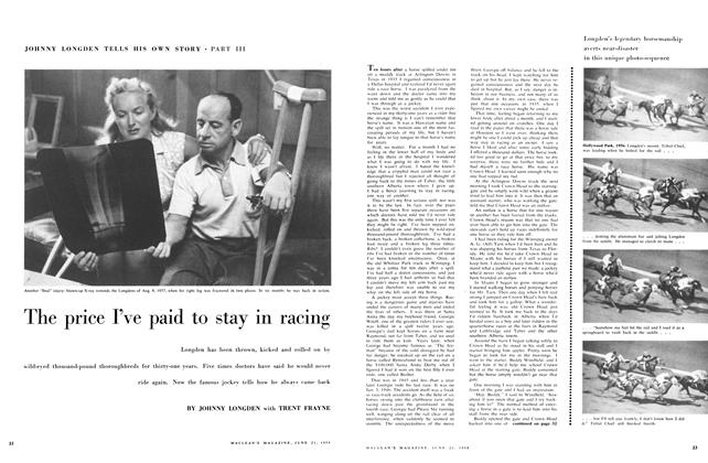 Article Preview: The price I've paid to stay in racing, June 1958 | Maclean's
