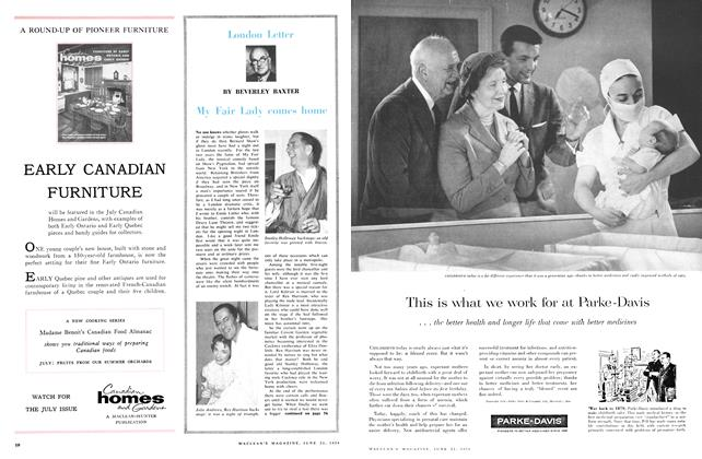 Article Preview: MY Fair Lady comes home, June 1958 | Maclean's