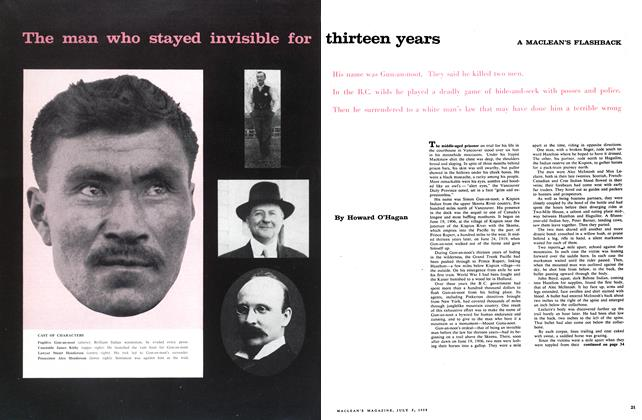 Article Preview: The man who stayed invisible for thirteen years, July 1958 | Maclean's