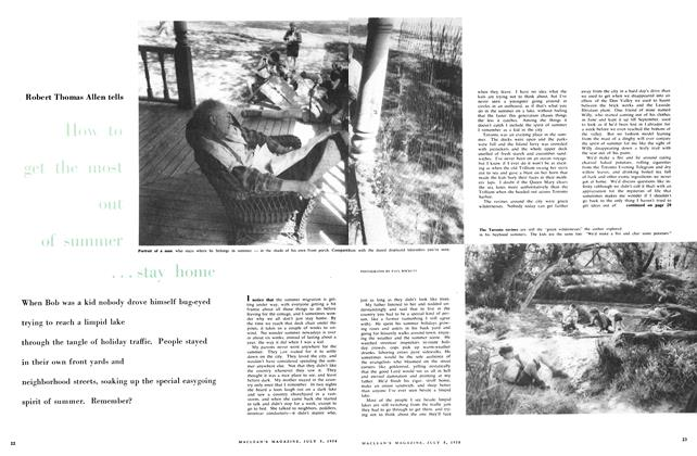 Article Preview: How to get the most out of summer ...stay home, July 1958 | Maclean's