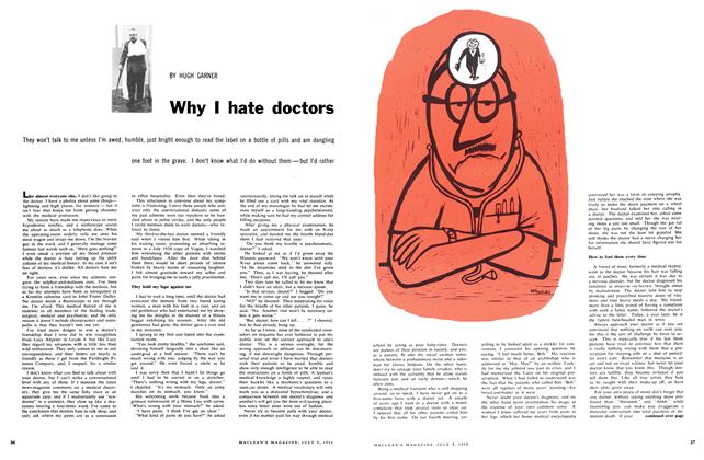 Article Preview: Why I hate doctors, July 1958 | Maclean's