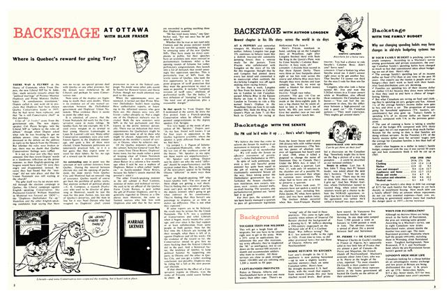 Article Preview: Backstage WITH THE FAMILY BUDGET, July 1958 | Maclean's