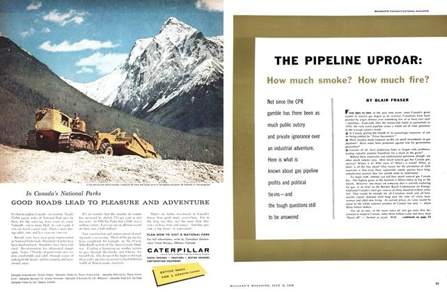 Article Preview: THE PIPELINE UPROAR: How much smoke? How much fire?, July 1958 | Maclean's