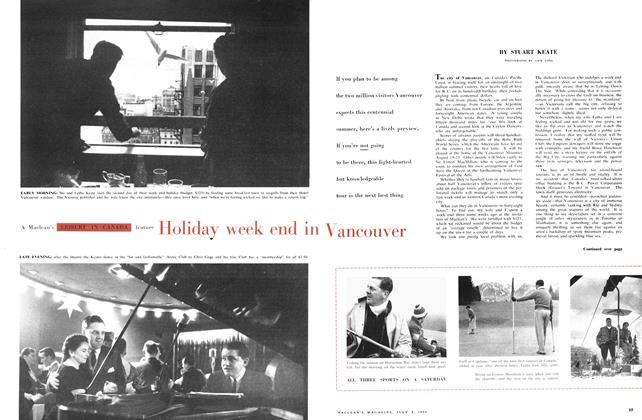Article Preview: Holiday week end in Vancouver, July 1958 | Maclean's