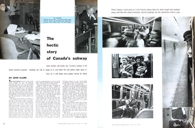 Article Preview: The hectic story of Canada's subway, July 1958 | Maclean's