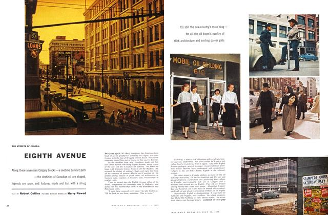 Article Preview: THE STREETS OF CANADA: EIGHTH AVENUE, July 1958 | Maclean's