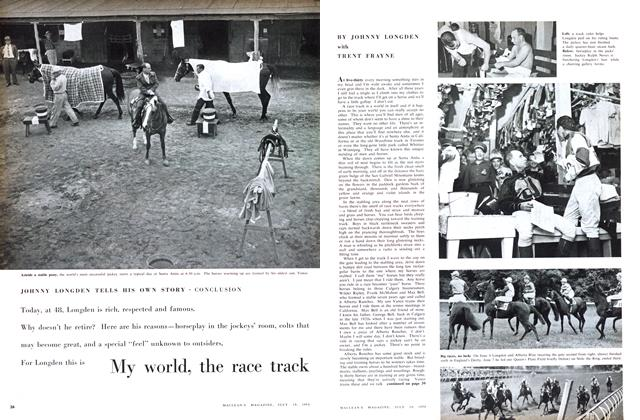 Article Preview: My world, the race track, July 1958 | Maclean's