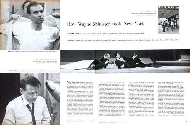 Article Preview: How Wayne & Shuster took New York, July 1958 | Maclean's