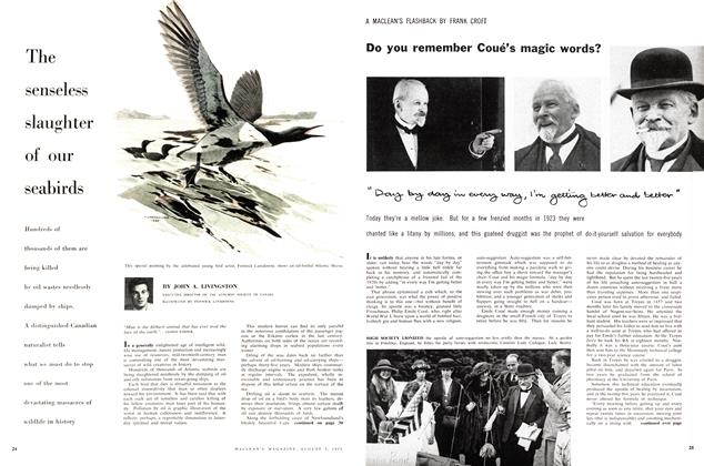 Article Preview: Do you remember Coué's magic words? A MACLEAN'S FLASHBACK, August 1958 | Maclean's