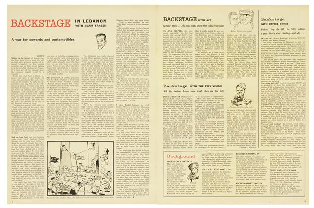Article Preview: BACKSTAGE, August 1958 | Maclean's