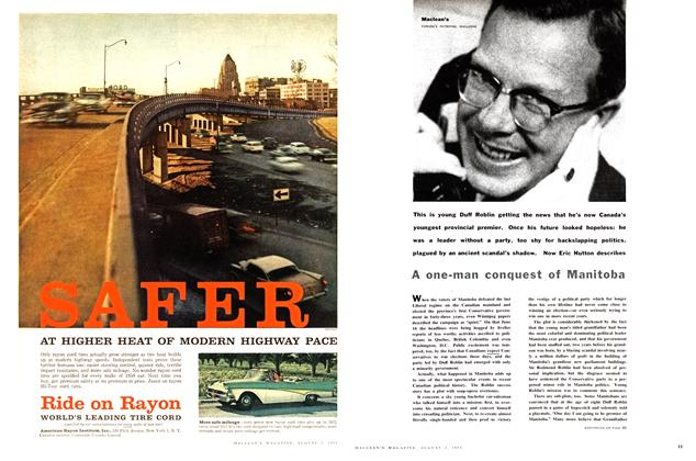 Article Preview: A one-man conquest of Manitoba, August 1958 | Maclean's