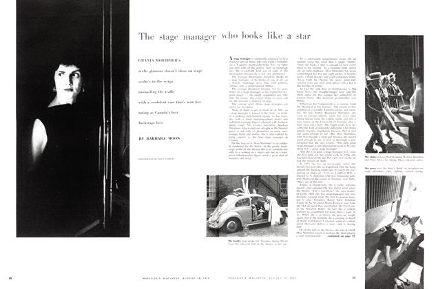 Article Preview: The stage manager who looks like a star, August 1958 | Maclean's