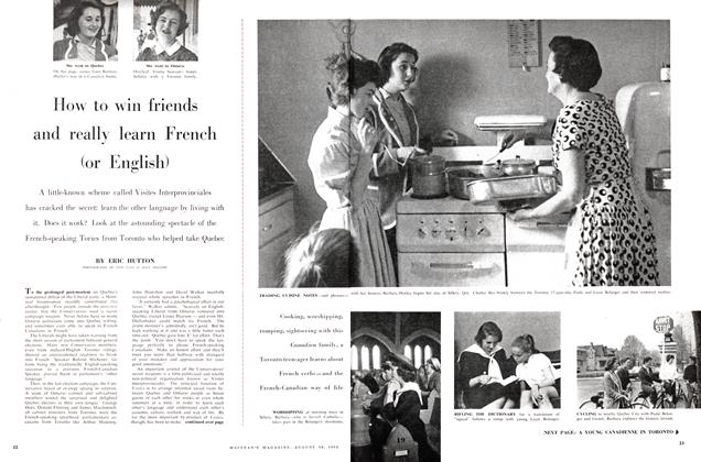 Article Preview: How to win friends and really learn French (or English), August 1958 | Maclean's