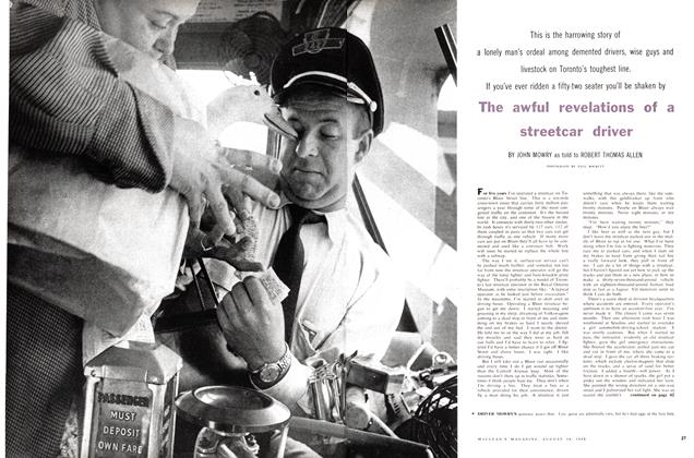 Article Preview: The awful revelations of a streetcar driver, August 1958 | Maclean's
