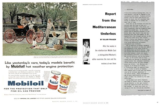 Article Preview: Report from the Mediterranean tinderbox, August 1958 | Maclean's