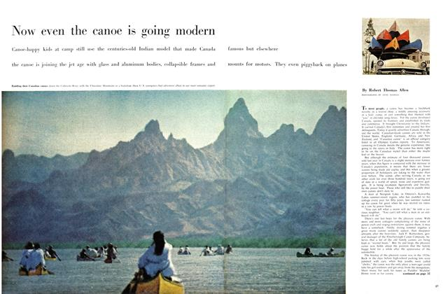 Article Preview: Now even the canoe is going modern, August 1958 | Maclean's