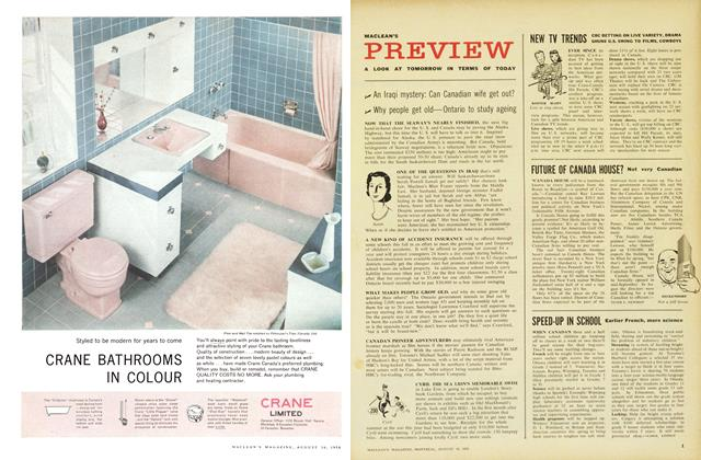 Article Preview: PREVIEW, August 1958 | Maclean's