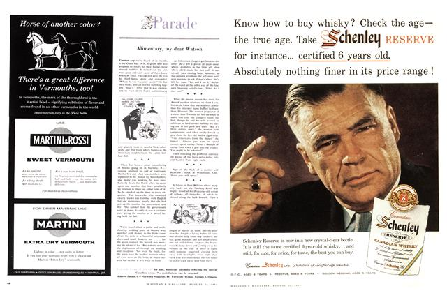 Article Preview: Parade, August 1958 | Maclean's