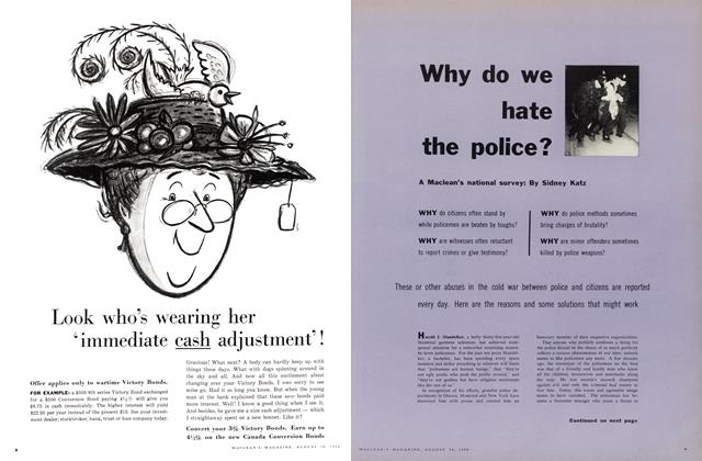Article Preview: Why do we hate the police?, August 1958 | Maclean's