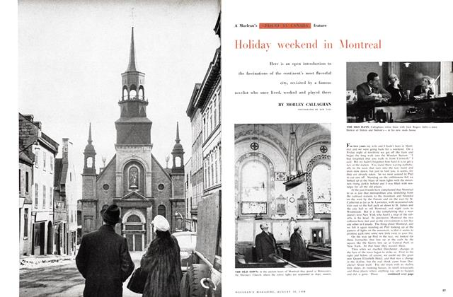 Article Preview: Holiday weekend in Montreal, August 1958 | Maclean's