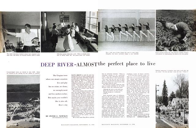 Article Preview: DEEP RIVER-ALMOST the perfect place to live, September 1958 | Maclean's