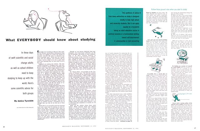 Article Preview: What EVERYBODY should know about studying, September 1958 | Maclean's