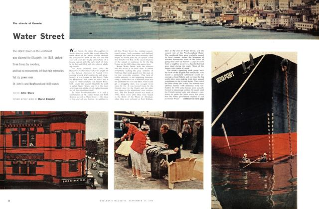 Article Preview: The streets of Canada: Water Street, September 1958 | Maclean's