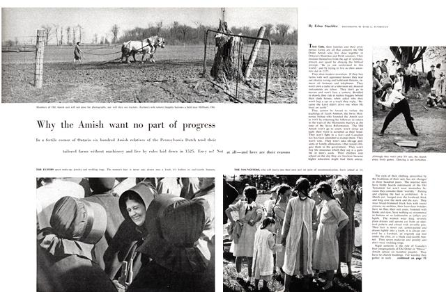 Article Preview: Why the Amish want no part of progress, September 1958 | Maclean's