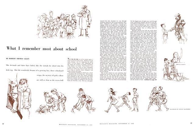 Article Preview: What I remember most about school, September 1958   Maclean's