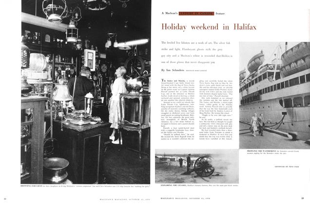Article Preview: Holiday weekend in Halifax, October 1958 | Maclean's