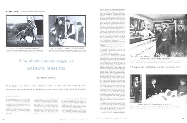 Article Preview: The short violent reign of SOAPY SMITH, October 1958 | Maclean's