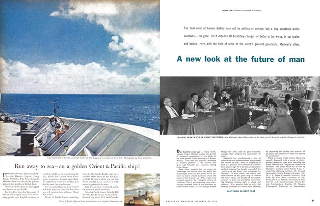 Article Preview: A new look at the future of man, October 1958 | Maclean's