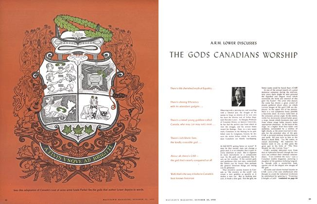 Article Preview: THE GODS CANADIANS WORSHIP, October 1958 | Maclean's