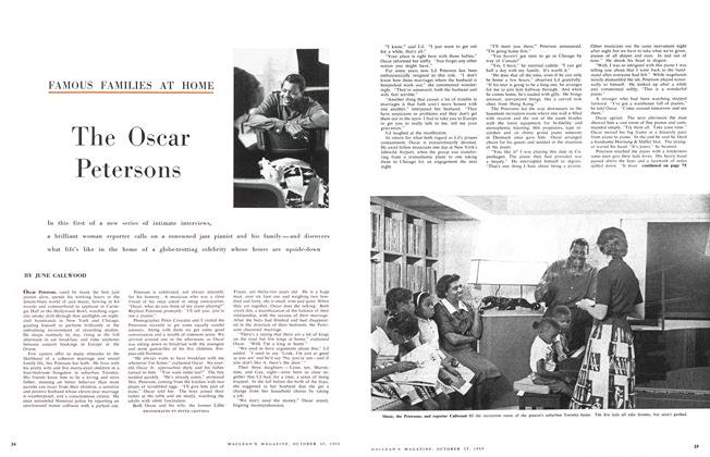 Article Preview: The Oscar Petersons, October 1958 | Maclean's