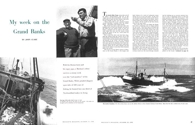 Article Preview: My week on the Grand Banks, October 1958 | Maclean's