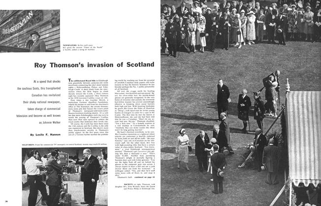 Article Preview: Roy Thomson's invasion of Scotland, October 1958 | Maclean's