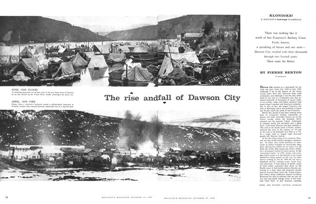 Article Preview: The rise and fall of Dawson City, October 1958 | Maclean's