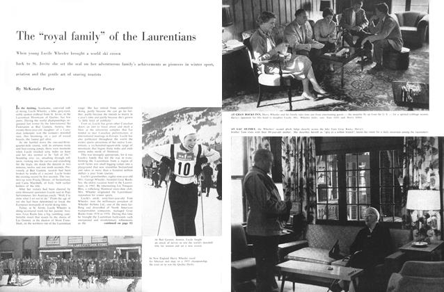 "Article Preview: The ""royal family"" of the Laurentians, November 1958 