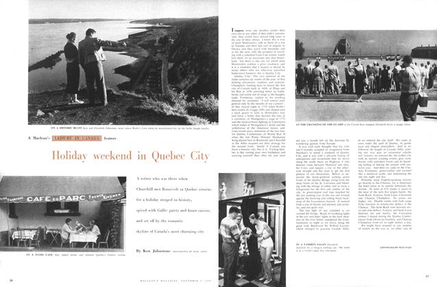 Article Preview: Holiday weekend in Quebec City, November 1958 | Maclean's
