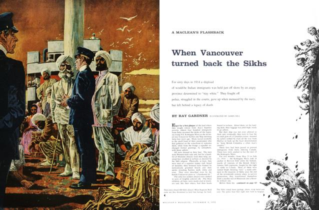 Article Preview: When Vancouver turned back the Sikhs, November 1958 | Maclean's
