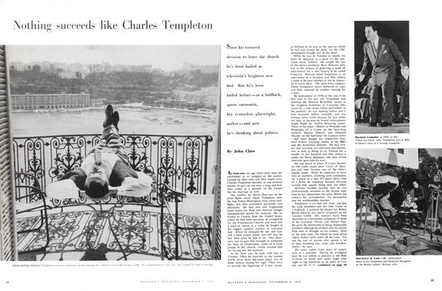 Article Preview: Nothing succeeds like Charles Templeton, November 1958 | Maclean's