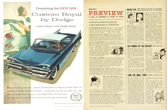 Article Preview: WATCH FOR, November 1958 | Maclean's