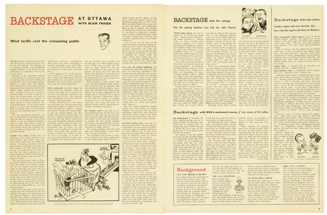 Article Preview: Backstage with DVA's unclaimed money, November 1958 | Maclean's